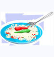 noodles vector image vector image