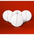Set of Photorealistic Medicine Pill Pharmacy vector image vector image