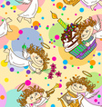 Seamless pattern for birthday party vector image