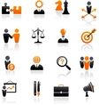 set of business and strategy icons vector image