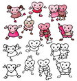 cartoons hearts vector image
