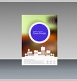 city design brochure template vector image