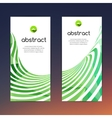 Colorful set of banners design with green lines vector image