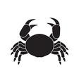 Icon of crab vector image