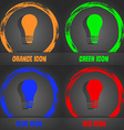 Light bulb icon Fashionable modern style In the vector image