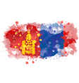 map of Mongolia Watercolor paint vector image