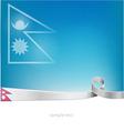 nepal flag on background vector image