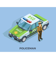 Police Profession Isometric Template vector image