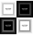 Set of Abstract Halftone Square Frame Backgrounds vector image