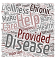 Ten Tips To Help Ease Life With A Chronic Disease vector image