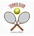 Tennis team club label vector image