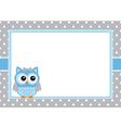Baby Boy Owl Card vector image