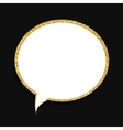 Speech Bubble Gold Glossy Background vector image vector image