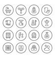 set round line icons of bathroom vector image vector image