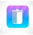 trash icon vector image vector image