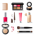 make-up icon set vector image vector image