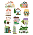 Assorted cute houses collection vector image