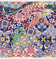 azulejos tiles patchwork wallpaper vector image