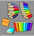 books in colored bindings vector image