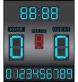 Digital Scoreboard Background vector image