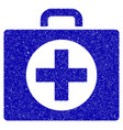 first aid icon grunge watermark vector image