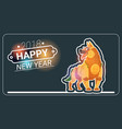happy new year 2018 greeting card with dog asian vector image