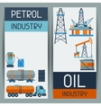 Industrial banners design with oil and petrol vector image