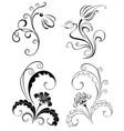 Set Decorative Flowers vector image