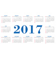 Simple calendar 2017 template vector image