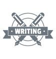 writing logo vintage style vector image