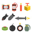 bomb and dynamite icons set vector image