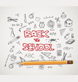 back to school - set of school doodle vector image
