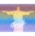Brazil monument tourism concept vector image vector image