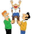 Cartoon birthday celebration vector image