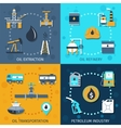 Oil Industry Set vector image