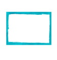 Turquoise grunge frame vector image vector image