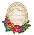 vintage invitation frame vector image vector image