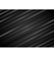 Abstract black diagonal stripes background vector image