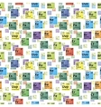 Bright colorful icons of chemical elements vector image
