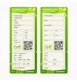 Boarding Pass Ticket Set vector image
