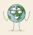 Cartoon planet vector image