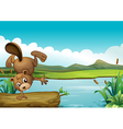 Cartoon River Beaver vector image