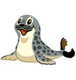 cartoon seal vector image