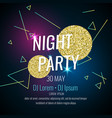 fashion poster night party abstract style with vector image