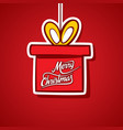 merry christmas greeting design vector image