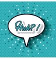 pop art message design vector image