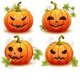 Pumpkin set for Halloween vector image