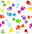 seamless footprints vector image