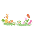 summer nature flowers and plants vector image
