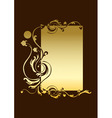 vector illustraition of funky abstract floral bord vector image